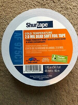 Aluminum Foil Tape 2.0 Mil 2 X 50 Yards For Hvac Use