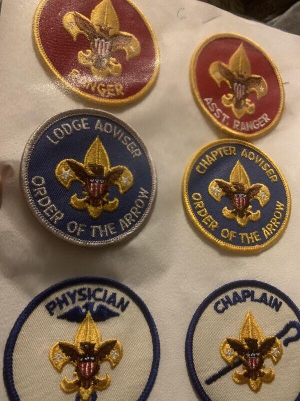 BSA - Lot Of 6: OA Lodge Advisor, Chapter Advisor, Ranger, Asst Ranger,Physician
