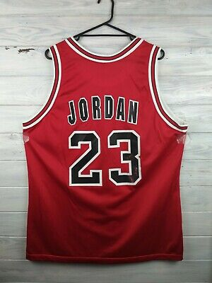 e9f781a6 Jordan Chicago Bulls basketball jersey size 48 NBA shirt Champion