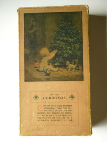 Vintage Woodwin C6 Christmas Decorative Lighting Outfit - 1925