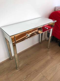 Mirrored drawer dresser makeup table luxury glam