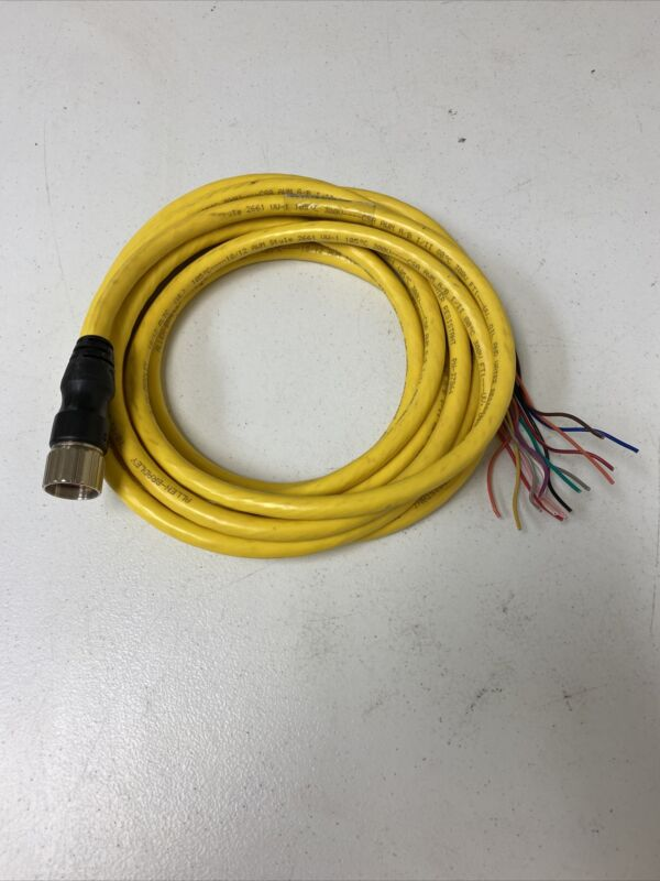NEW ALLEN BRADLEY 889M-F12AH-5 SERIES C PLTC CABLE, 12 PIN FEMALE CONNECTOR, 30V