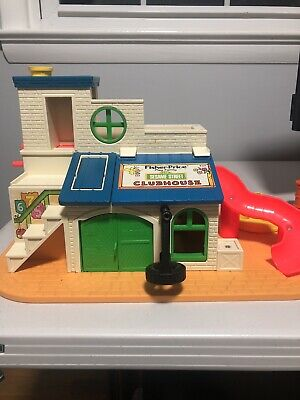 Vintage Fisher Price Little People Sesame Street Clubhouse  #937