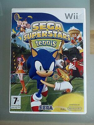 Sega Superstars Tennis (Nintendo Wii, 2008) Sonic, Monkey Ball, Samba di Amigo for sale  Shipping to Nigeria