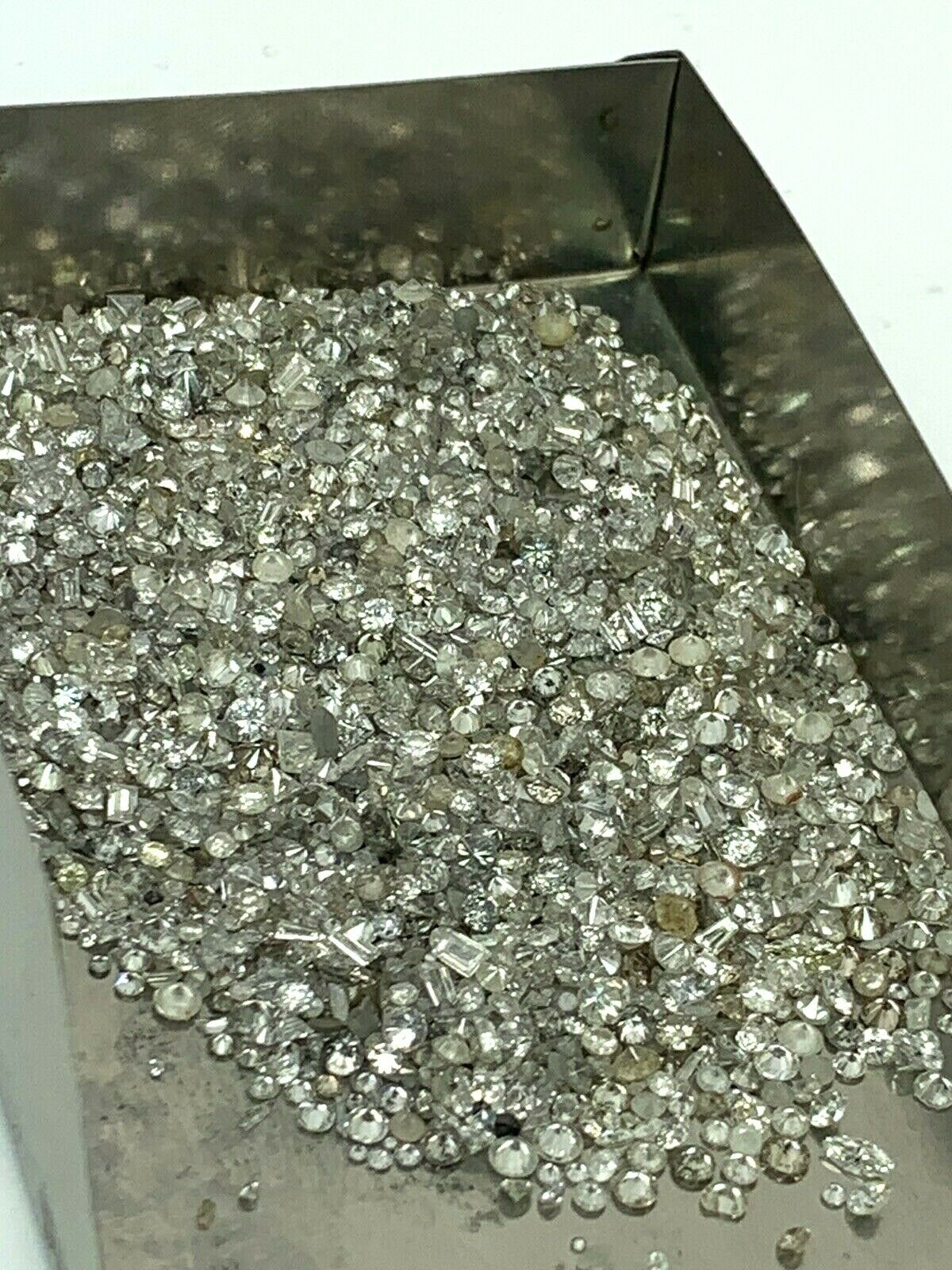 Lot of Loose Diamonds 2ctw Natural Mix Unsorted Melee Gold S