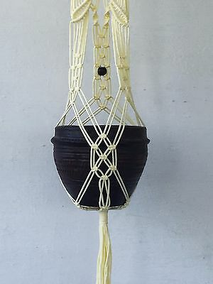 handmade Macrame plant hanger pot hanger bird feeder 42 inches