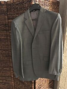 Men's Grey 40R Suit Jacket