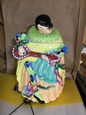 Lotus cookie jar Masquerade jester medieval plague mask 1999 VINTAGE