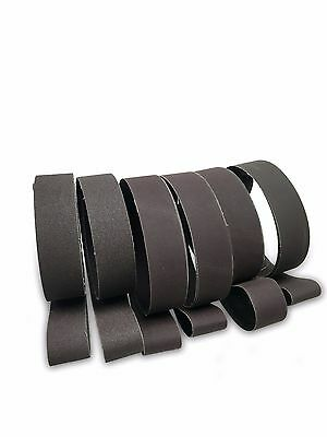 2 X 42 Knife Makers Fine Grit Sanding Belts 6 Pack Assortment