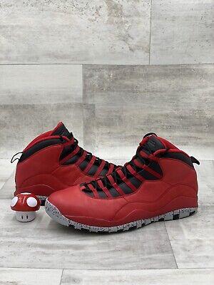 Nike Air Jordan 10 X Retro Size 17 Red Black Grey Bulls Over Broadway 705178-601