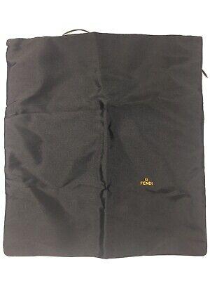 "Fendi Black Dust Cover Storage Bag With Tie ( 15"" H X 13.5"" W )"