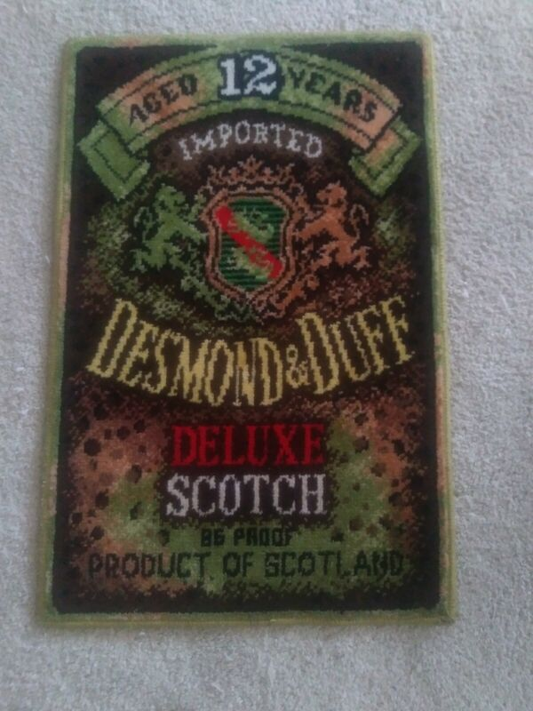 Rare Desmond and Duff 12 Years Scotch Whiskey Rug Floor mat