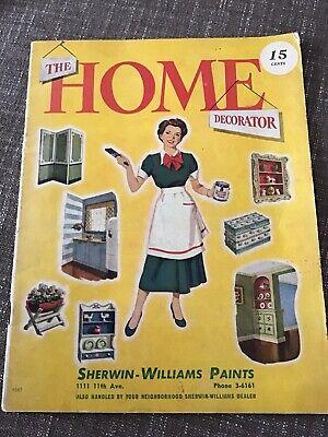 Vintage memorabilia The Home Decorator Magazine Sherwin Williams Paints 42 Pages