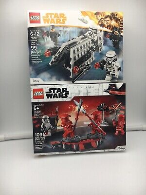 Lego Star Wars Lot of 2 Battle Packs 75207 & 75225 Brand New Factory Sealed
