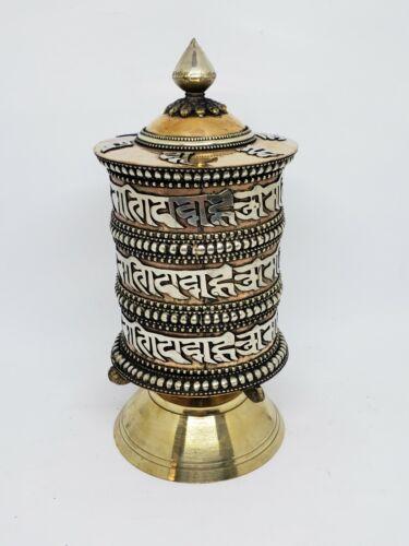 Tibetan Buddhist Handcrafted Spinning Prayer Wheel Table/Desktop Stand ~ TO-562