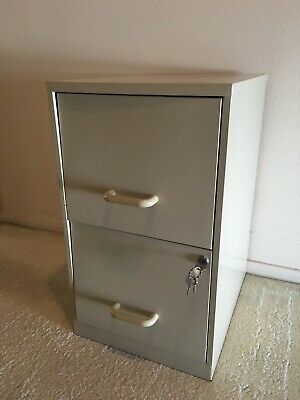 Small 2 Drawer File Storage Metal Cabinet Office Home Furniture Pick Up Only