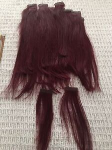 $30 DEEP BURGANDY HAIR EXTENSIONS TAPE INS Warnbro Rockingham Area Preview