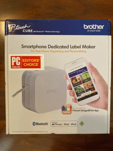 P-touch CUBE Smartphone Dedicated Label Maker with Bluetooth