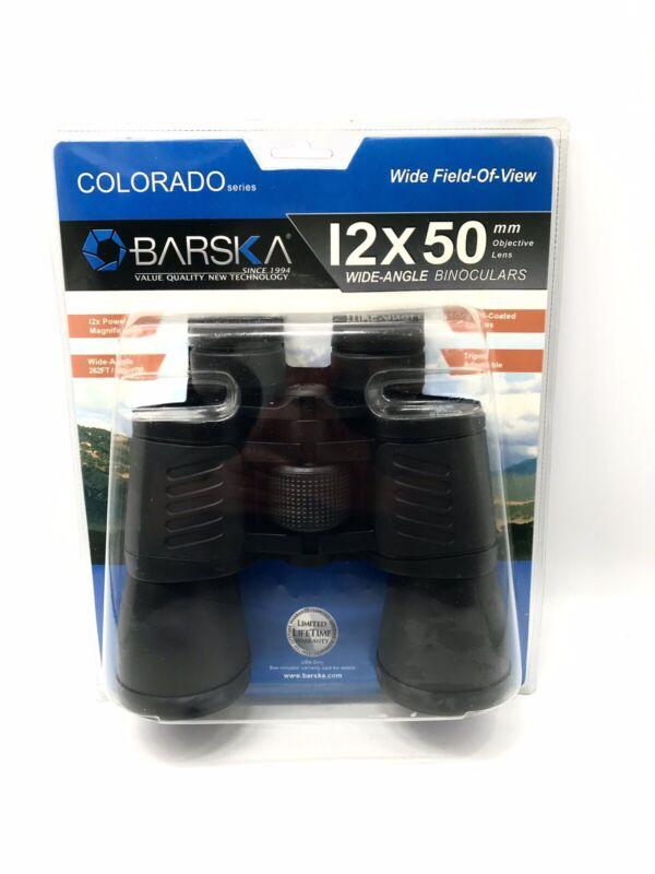 BARSKA Binoculars Wide-Angle 12 x 50 mm Colorado Series carrying case BRAND NEW