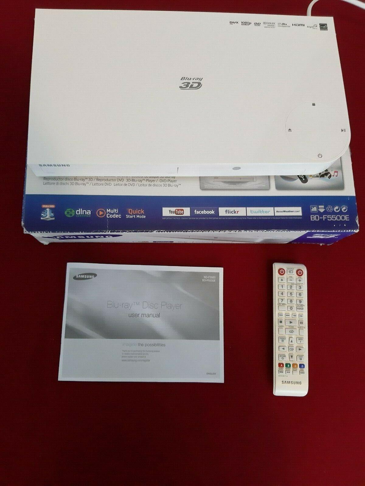 Blu-ray Player Samsung BD-F5500E, 3D, weiß