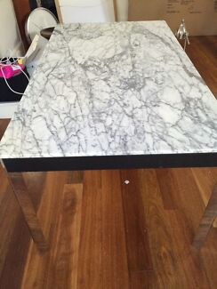 Marble dining table - Nick Scali  Randwick Eastern Suburbs Preview
