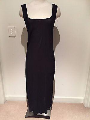 Georgette Slip (TL Wood Black Georgette Bias-Cut Slip Dress Size Medium )