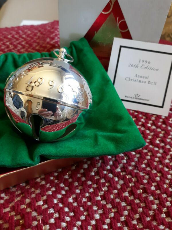 1996 Wallace Silversmiths Bell Ornament