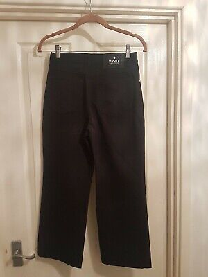 Versace Jeans Couture Black cropped stretch Jeans Size UK10