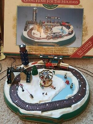 Mr. Christmas Train Animated Going Home for Holidays Set Music Lights As is