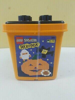 1998 LEGO System Halloween Trick or Treat Bucket NOS 3047 Orange Bricks NEW