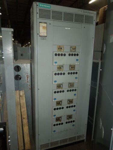 Siemens C4 225a 3ph 480y/277v Mlo Breaker Panel W/ Breakers & Starters Nema 1