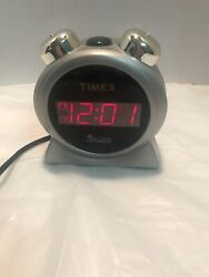 Timex Digital Alarm Clock T127S Doube Bell Snooze Battery Backup