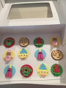 Cupcake children's toppers hand made Alkimos Wanneroo Area Preview