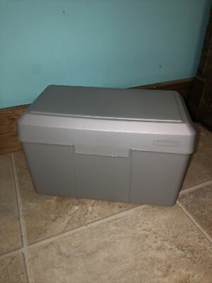 Sturdy Index Card File Box By Rubbermaid - Large - Holds 5 X 8 Cards
