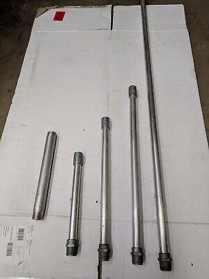 "LOT OF 7 - 1"" male npt x 48"" x 3/4 fnpt IACO Irrigation Aluminum risers."