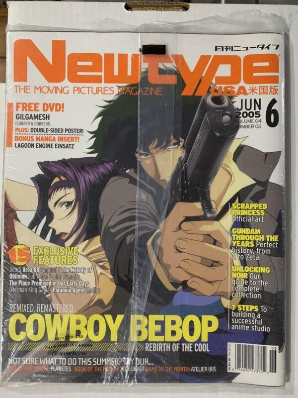 COWBOY BEBOP GUNDAM Newtype USA Magazine DVD MINT June 2005 Samurai 7 Madlax