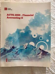 ACTG 2000 - Financial Accounting 2 textbook