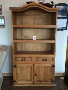 Solid Pine Provenzal Bookcase / Hutch