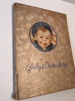Vintage 1939 Baby's Own Story First 5 Years Milestones Record Book Unused