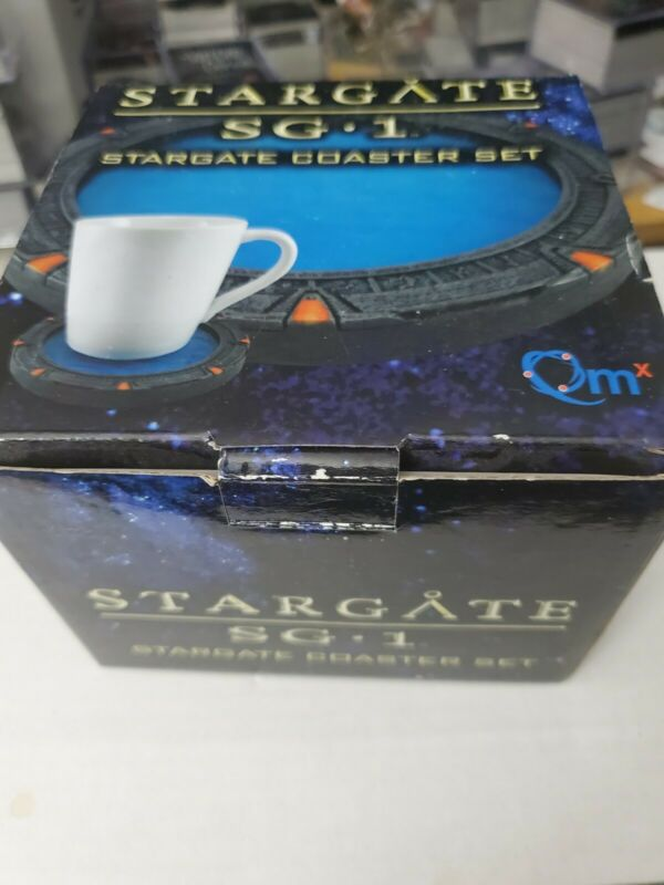 Qmx Stargate SG 1 SG-1 Coaster Set - Quantum Mechanix - New in Box