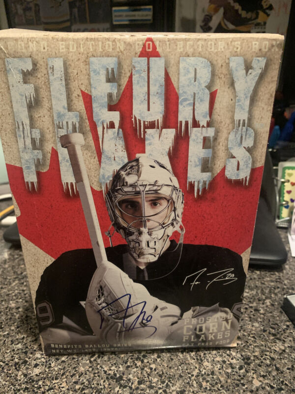 Marc Andre Fleury Signed Autograph Fleury Flakes Cereal Unopened Penguins