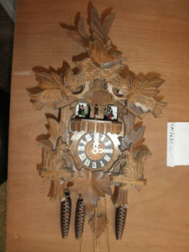 Cuckoo Clock German Black Forest working SEE VIDEO Musical  1 Day CK2631