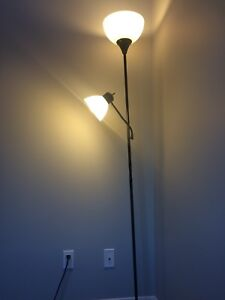 Stand up lamp with reading lamp as well fresh bulbs