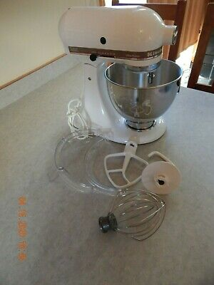 KITCHEN AID Ultra Power 300 Stand Mixer KSM90PSWH Bowl & Attachments/10 Speeds