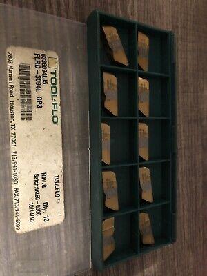 Tool Flo Fldr-3094l Gp3 10 New Inserts