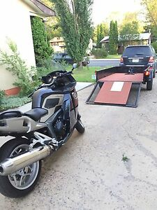 Motorcycle trailer custom built