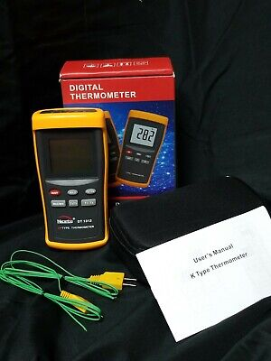 Nicety Dy1312 Digital K-type Thermometer Hvac W. 2 Thermocouple Wire New