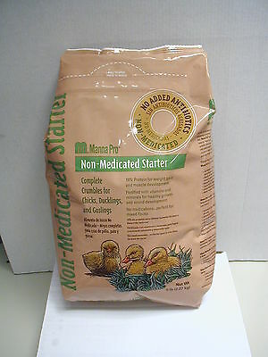 Chick Starter Feed Non Medicated 5 Pound Bag Manna Pro Ducks Goslings