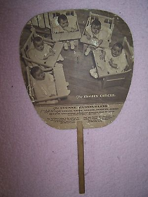 Collectible Dionne Quintuplets Hand Fan from LINCO Gasoline/Motor Oil