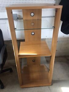 Tall wooden tv stand